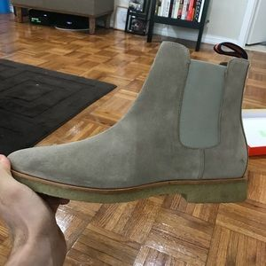 7ec7d18fa4f1 New Republic by Mark McNary Shoes - New Republic Suede Chuck Chelsea Boot  in Sand